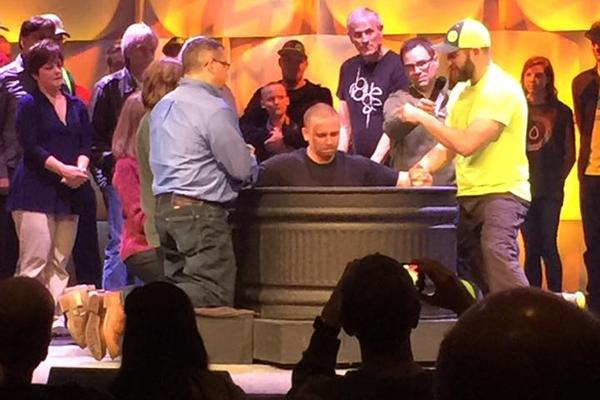 Baptizing Chris